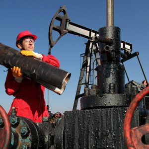 Oil worker job, hard work and high pay